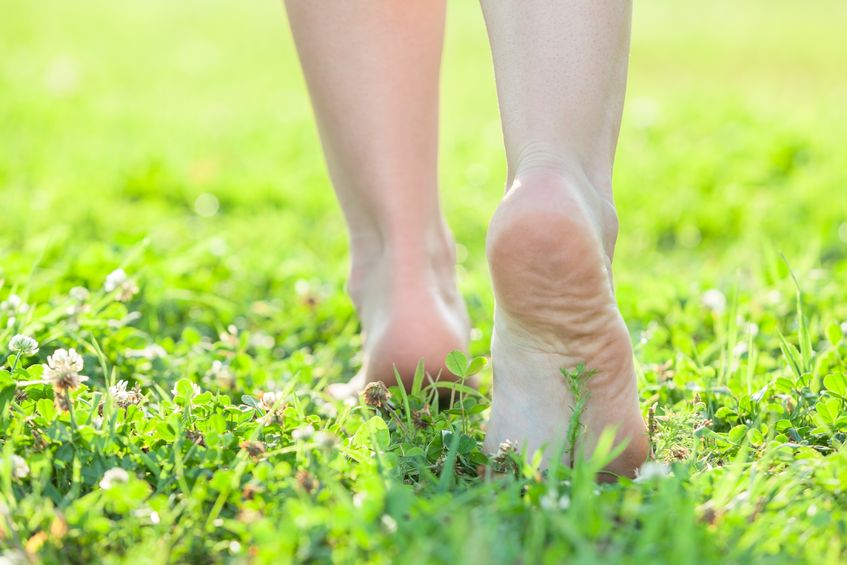 Walk barefoot outside, feel the surge of energy as you connect to the earth's healing power. http://www.info-on-high-blood-pressure.com/stressandhighbloodpressure.html