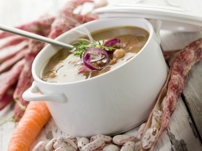 Beans soup,  https://www.info-on-high-blood-pressure.com/Strong-Bones.html