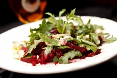 Beets With Arugula Leaf Greens  http://www.info-on-high-blood-pressure.com/Beets-And-Arugula-Salad.html