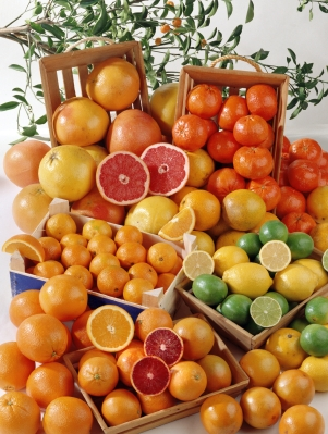 Citrus Fruits  http://www.info-on-high-blood-pressure.com/Sample-Diets-For-Lowering-Cholesterol.html