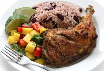 Chicken, vegetables and rice and peas meal. https://www.info-on-high-blood-pressure.com/Foods-To-Lower-Blood-Pressure.html
