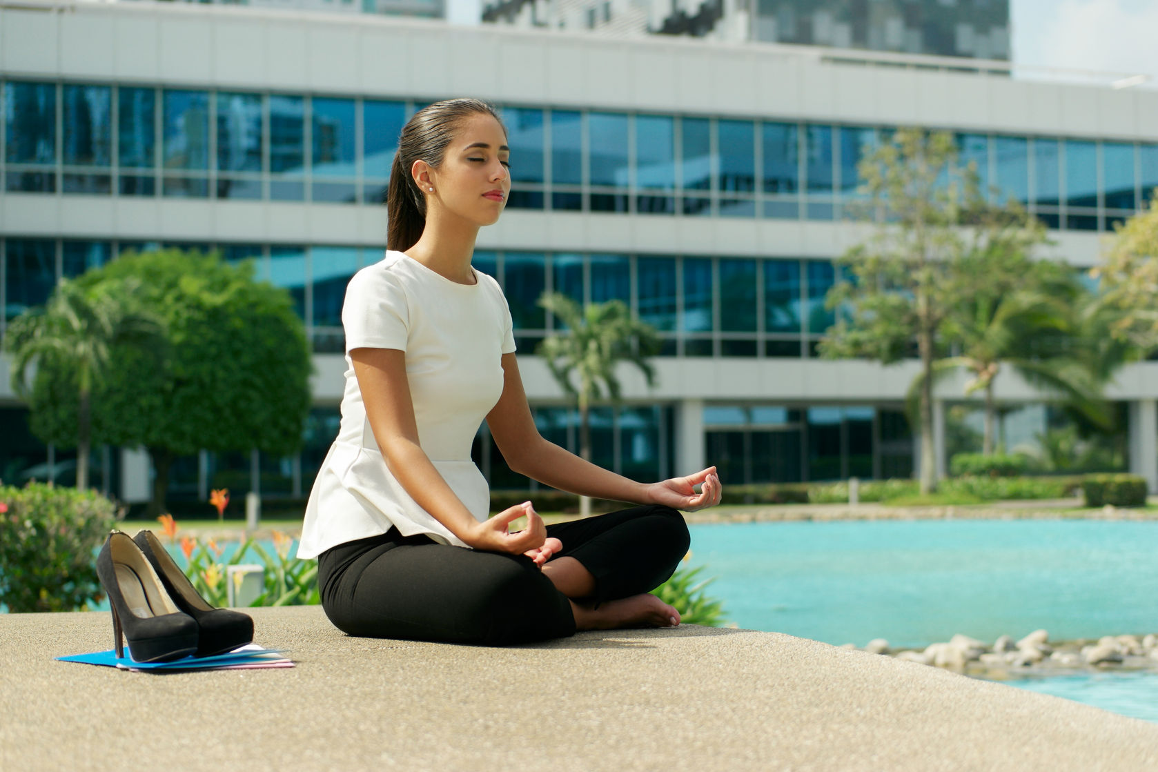 Meditating Woman  http://www.info-on-high-blood-pressure.com/Guided-Meditation.html