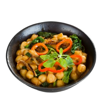 http://www.info-on-high-blood-pressure.com/VeganRecipes.html, Saag CHHole - Indian Spinach and Chickpea Curry