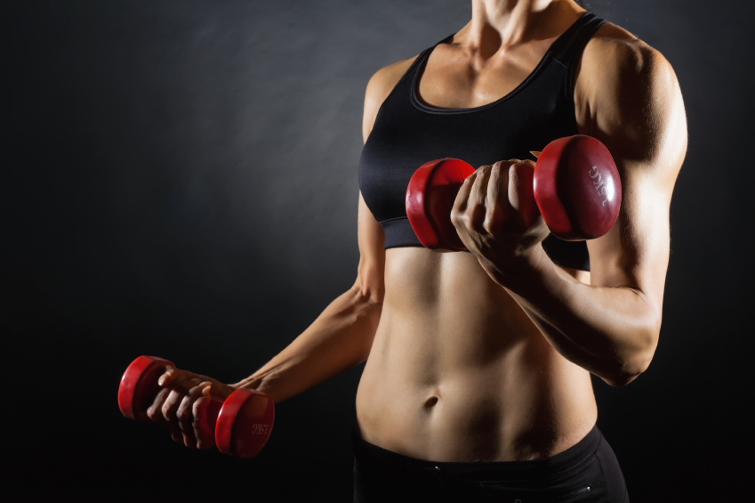 Weight Lifting Woman  http://www.info-on-high-blood-pressure.com/Strong-Bones.html