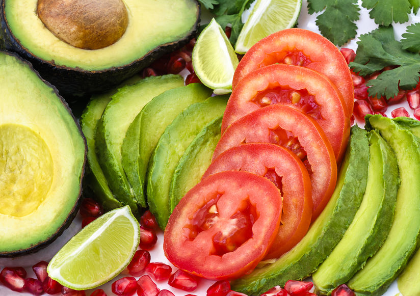 Avocado And Tomato - A Heart Healthy Snack  http://www.info-on-high-blood-pressure.com/Healthy-Snacks.html