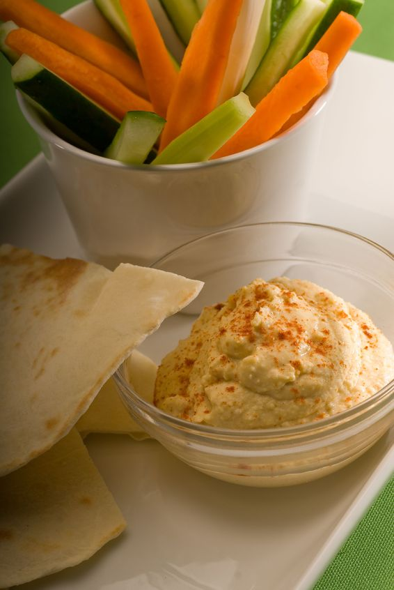 Raw vegetables with Chickpeas dip. https://www.info-on-high-blood-pressure.com/priming-your-pump.html