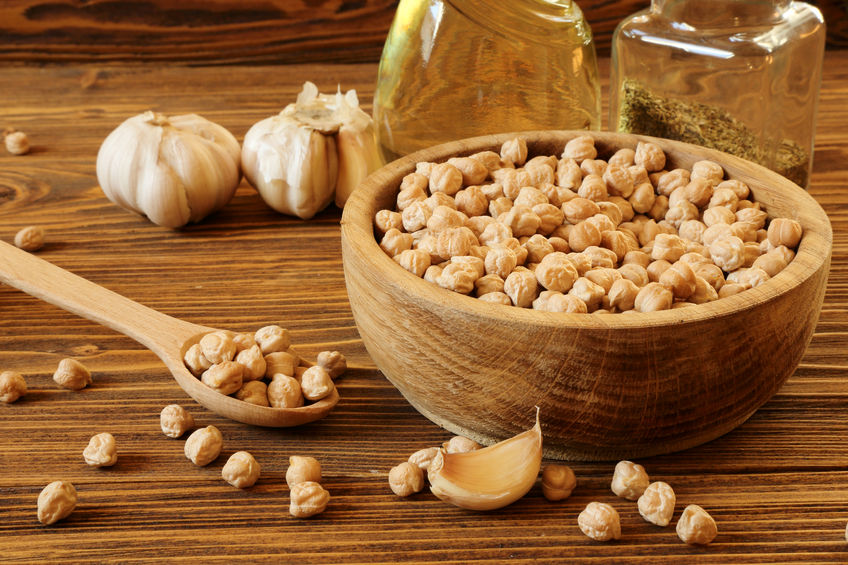 Garlic and Chickpeas - Sulfur and Iron   http://www.info-on-high-blood-pressure.com/Healthy-Snacks.html