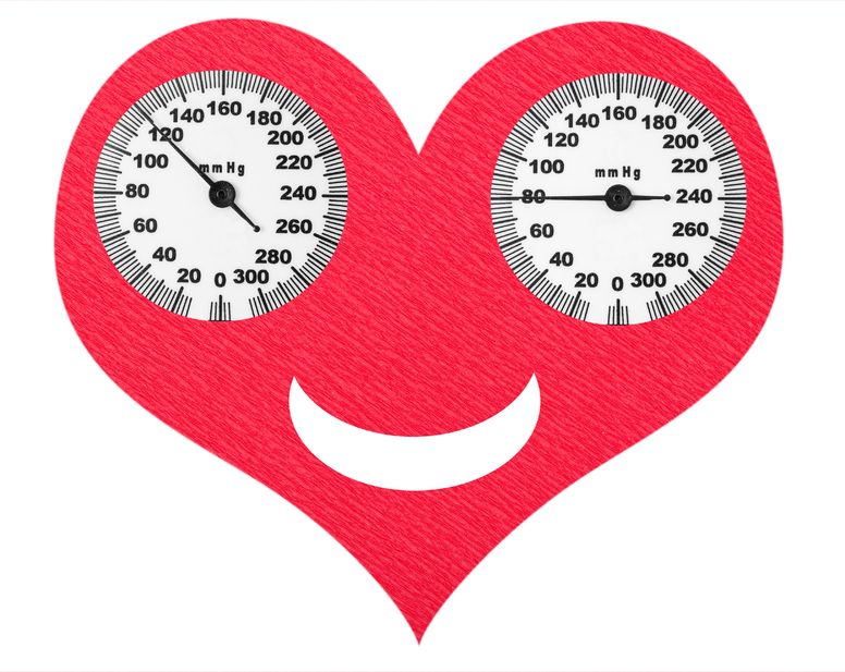 http://www.info-on-high-blood-pressure.com; happy heart with normal blood pressure numbers