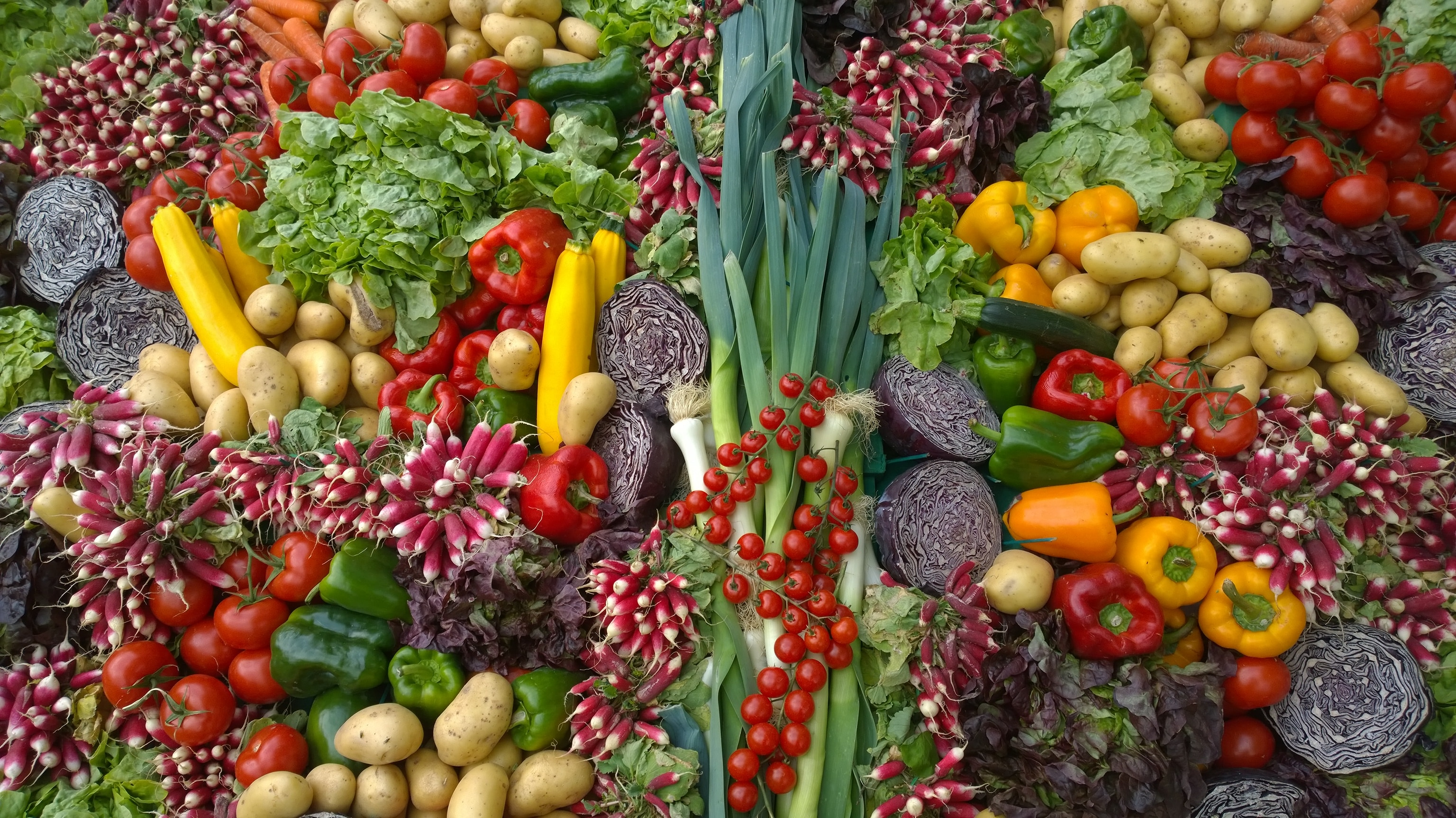 Colorful vegetables.  https://www.info-on-high-blood-pressure.com/heart-nutrition.html