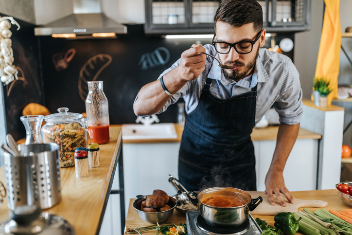 Chef cooking. https://www.info-on-high-blood-pressure.com/heart-healthy-lifestyle.html