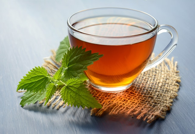 Peppermint tea. https://www.info-on-high-blood-pressure.com/lungs-and-respiratory.html