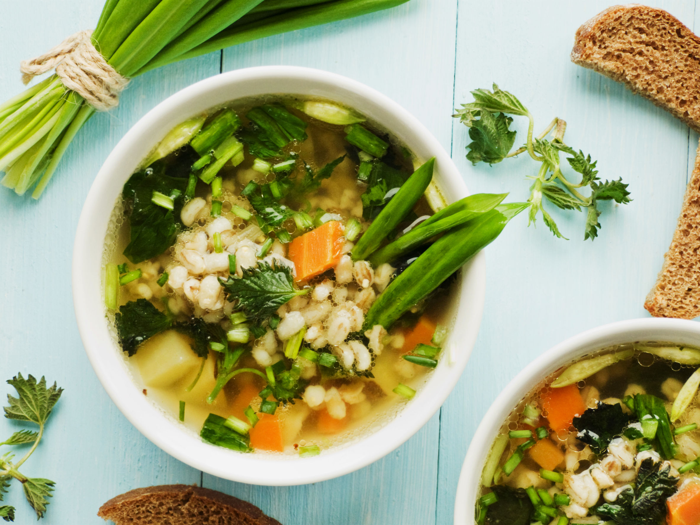 Vegetable Congee - support the immune system.  https://www.info-on-high-blood-pressure.com/vegetable-congee.html