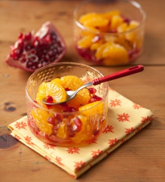 Orange and Pomegranate fruit salad. https://www.info-on-high-blood-pressure.com/your-health.html