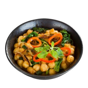 https://www.info-on-high-blood-pressure.com/VeganRecipes.html, Saag CHHole - Indian Spinach and Chickpea Curry