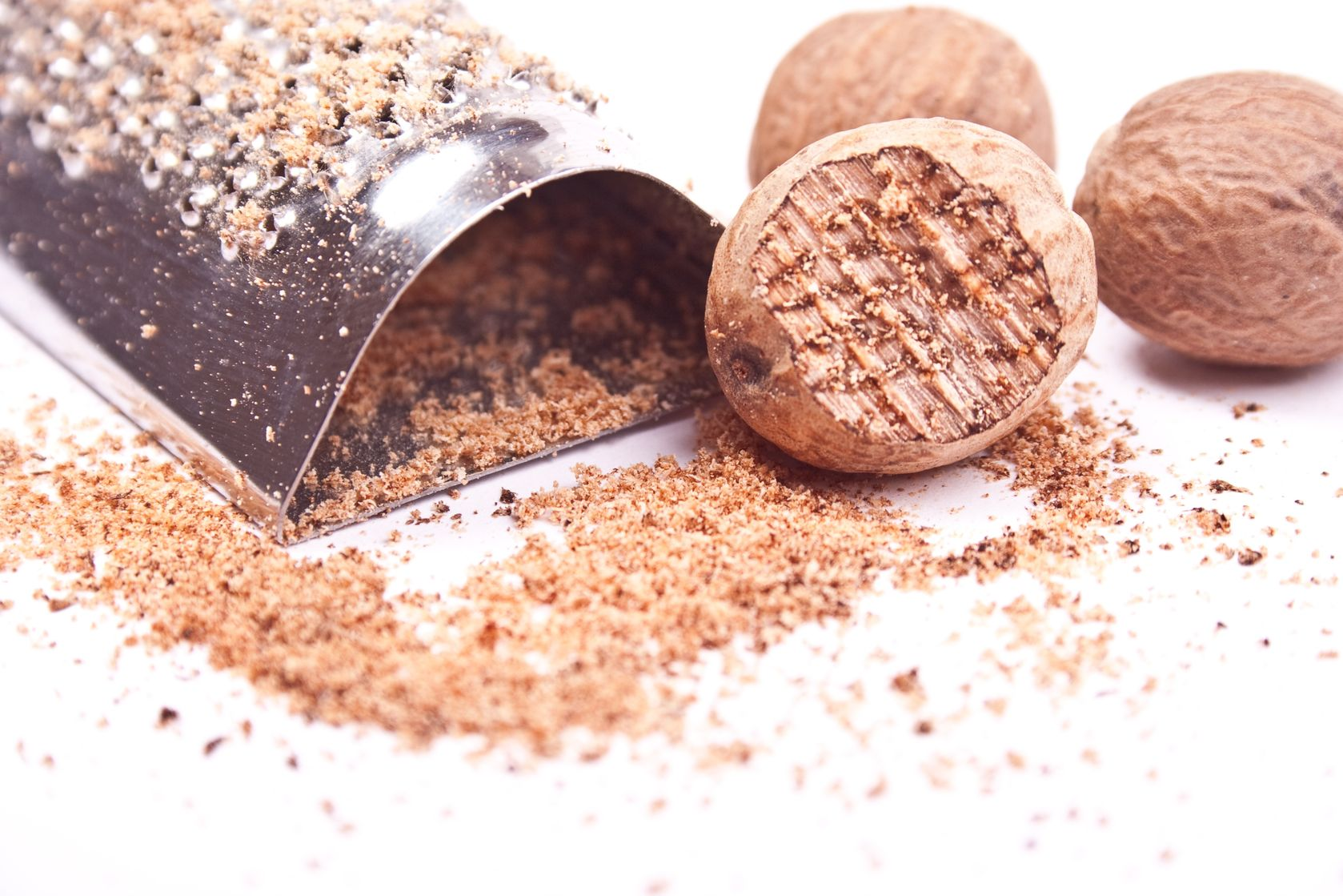 Nutmeg - a spice that can be used to lower blood pressure. https://www.info-on-high-blood-pressure.com/Herbs-That-Lower-Blood-Pressure.html